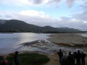 Kleinmond lagune breaks through to the sea