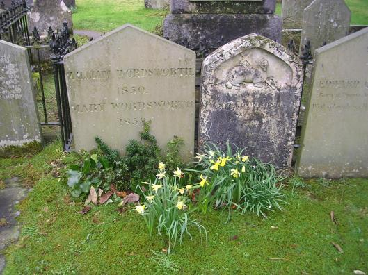 William Wordsworth's grave in Grasmere, UK
